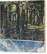Ker Splash  Wood Print