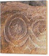 Kerbstone Spiral Wood Print