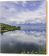 Kerkini Lake View. Wood Print