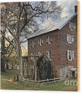 Kerr Grist Mill At Sloan Park Wood Print