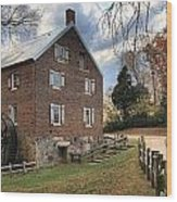 Kerr Grist Mill Panorama Wood Print