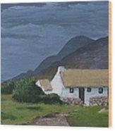 Kerry Cottage Wood Print