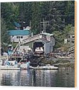 Ketchikan Buildings With Character 1 Wood Print