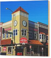 Ketchikan Clock Tower Wood Print