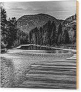 Kettle Black And White Wood Print