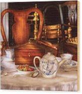 Kettle -  Have Some Tea - Chinese Tea Set Wood Print