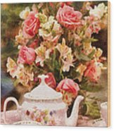 Kettle - More Tea Milady  Wood Print