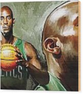 Kevin Garnett Artwork 1 Wood Print