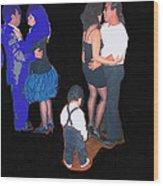 Kevin Howard's Wedding Dancers Tucson Arizona 1990-2012 Wood Print