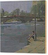 Kew Bridge, 2009 Oil On Canvas Wood Print