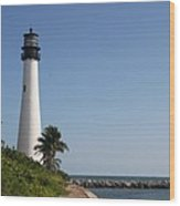 Key Biscayne Lighthouse Wood Print