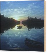 Key Biscayne Sunset 2 Wood Print