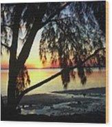 Key Biscayne Sunset Wood Print