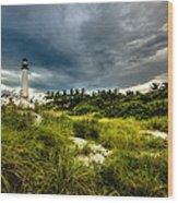 Key Biscayne Sunset Wood Print