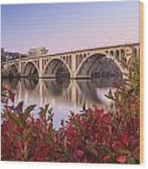 Graceful Feeling - Washington Dc Key Bridge Wood Print