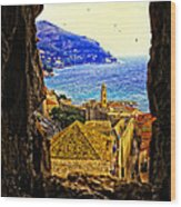 Key Hole View Of Dubrovnik 2 Wood Print