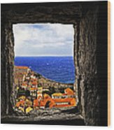 Key Hole View Of Dubrovnik Wood Print