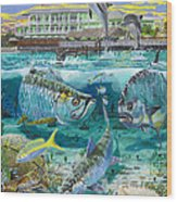 Key Largo Grand Slam Wood Print by Carey Chen