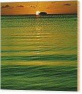 Key Largo Sundown Wood Print