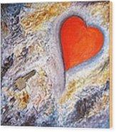Key To My Heart Wood Print by Heather Matthews