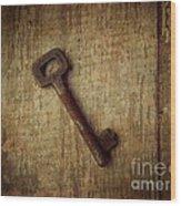 Key To My Secret Wood Print by Lorraine Heath