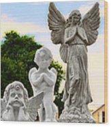 Key West Angels Wood Print
