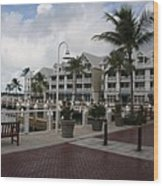 Key West Bayfront  Wood Print