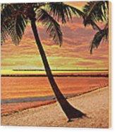 Key West Beach Wood Print by Marty Koch