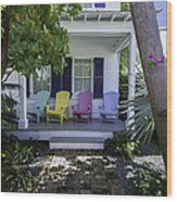Key West Chairs Wood Print