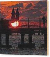 Key West Florida Sunrise Wood Print