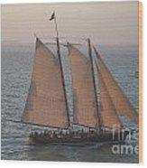 Sail Boat - Key West Florida Wood Print