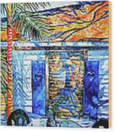Key West Still Life Wood Print