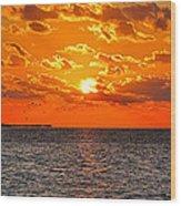 Key West Sunset 11 Wood Print
