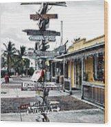 Key West Wharf Wood Print