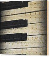 Keyboard Music Wood Print
