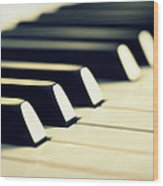 Keyboard Of A Piano Wood Print by Chevy Fleet
