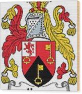 Keyes Coat Of Arms Irish Wood Print