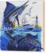Keys Sail Wood Print