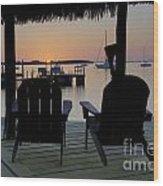 Keys Sunset Iv Wood Print