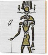 Khensu - God Of Ancient Egypt Wood Print
