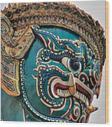 Khmer Guard Wood Print
