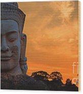 Khmer Sunrise Wood Print by Pete Reynolds