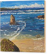 Kiama Beach Wood Print