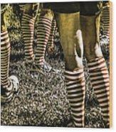 Kickball Socks Wood Print