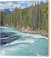 Kicking Horse River In Yoho Np-bc Wood Print