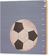 Kids And Soccer Wood Print
