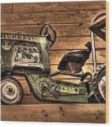 Kids Toy Pedal Tractor On Shelf Wood Print