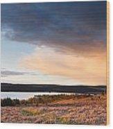 Kielder At Sunset Wood Print