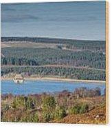 Kielder Dam And Valve Tower Wood Print