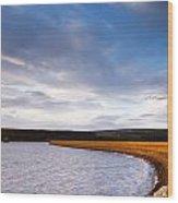 Kielder Dam Wood Print